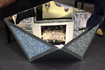* New Crush Sparkle Crystal Mirrored Coffee Table