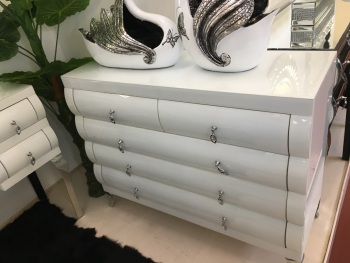 White Gloss 5 Draw chest Large