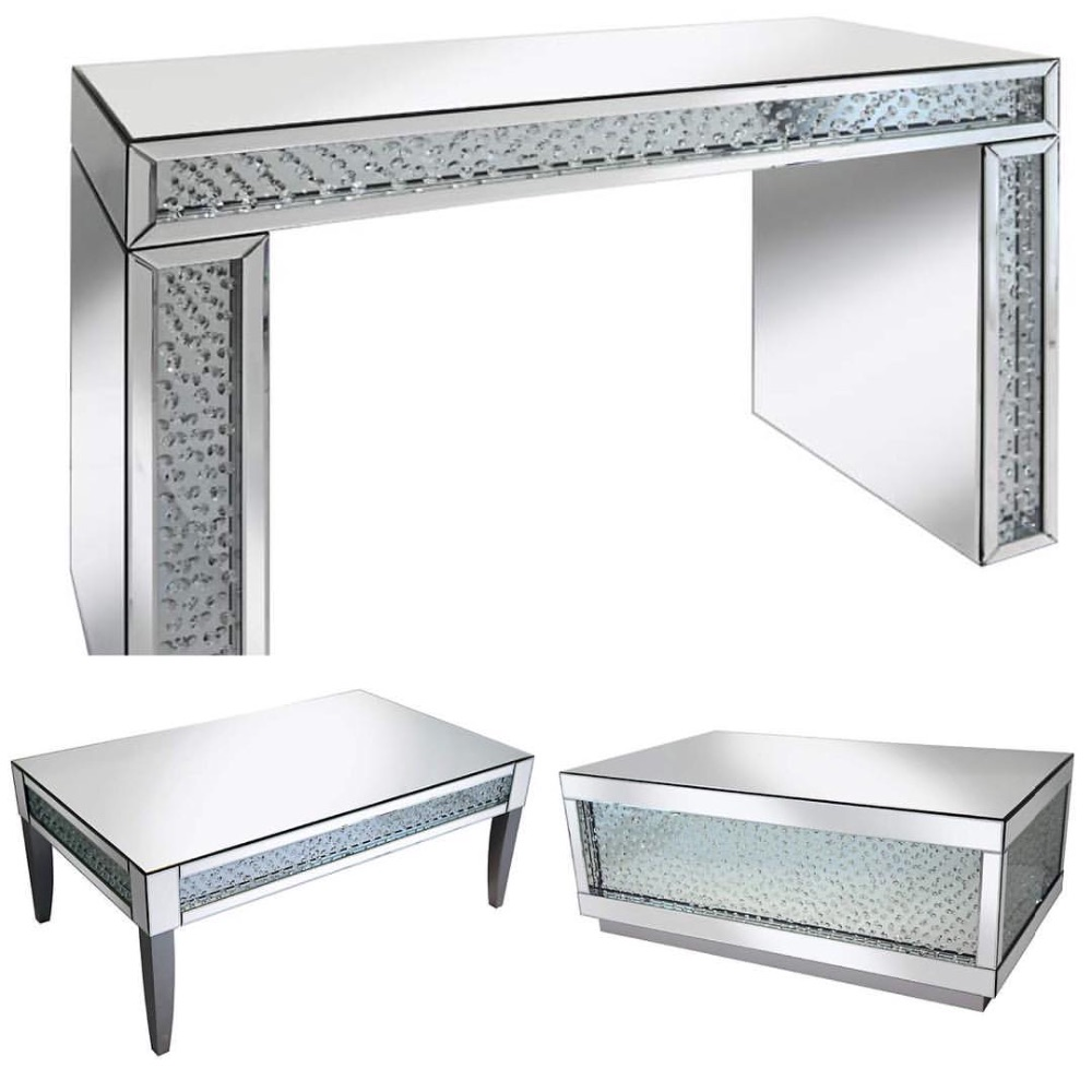 **Floating Crystal Mirrored Furniture