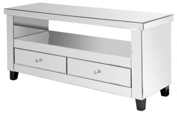 Mirrored TV Entertainment Unit