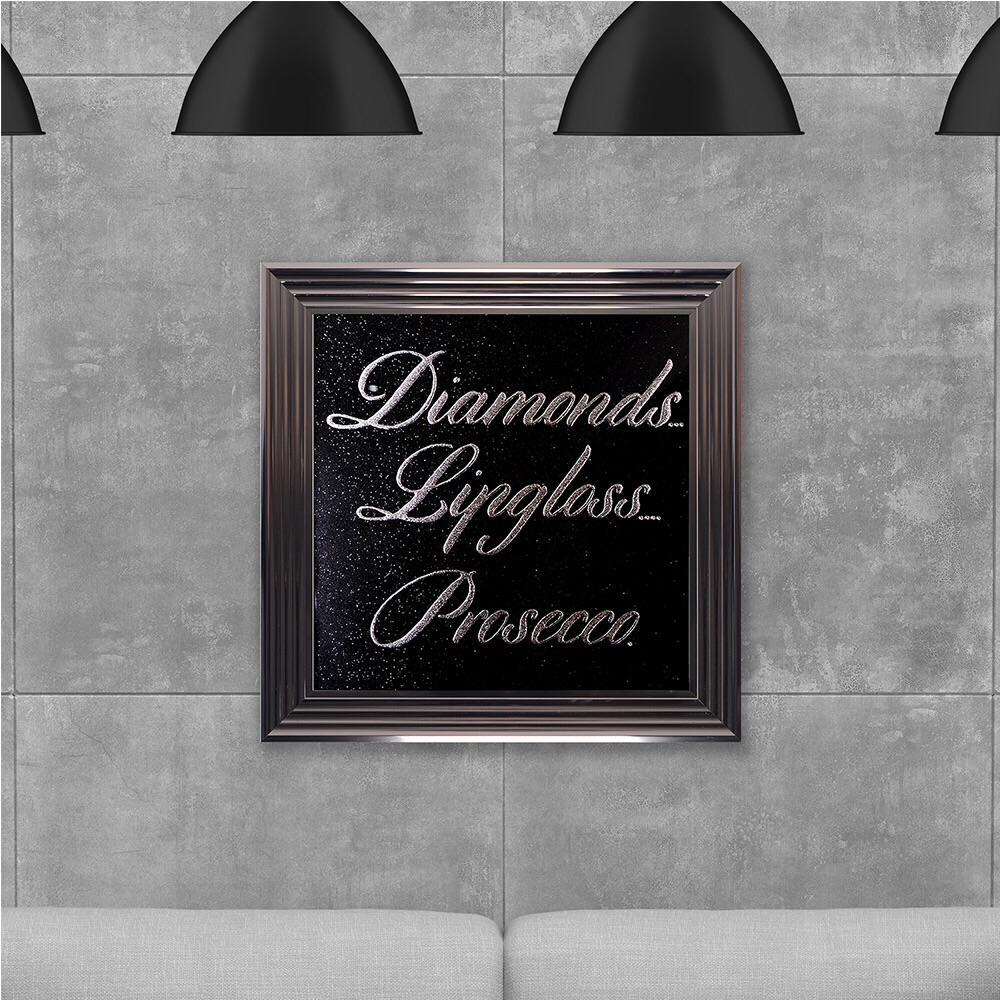 Diamonds / Prosecco Glitter Backing 75cm