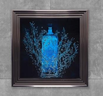* London Dry Gin Glitter Art **