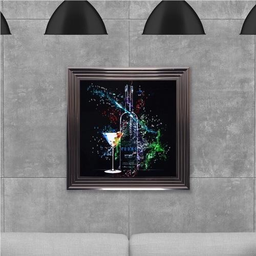 ** Bacardi  Glitter Art Mirrored Frame **