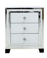 Atlanta  White Mirrored 3 Draw chest