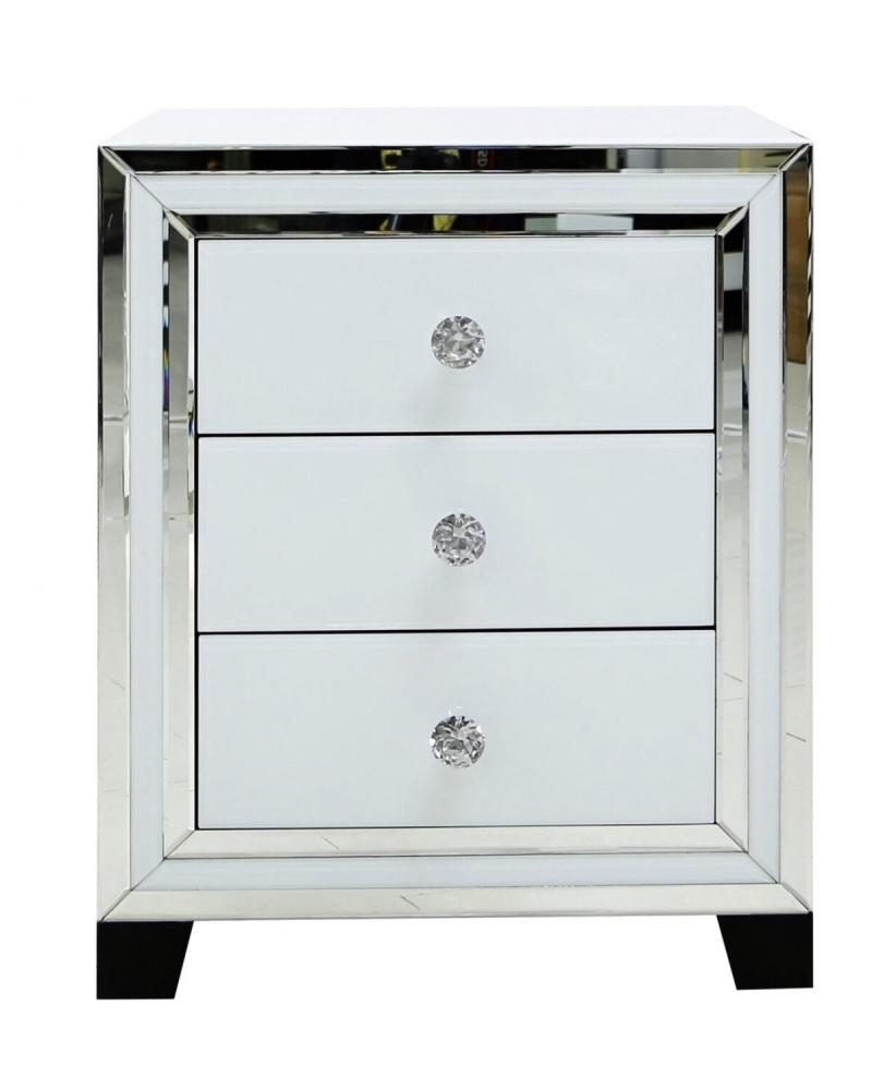 White Mirrored Manhattem Draw chest