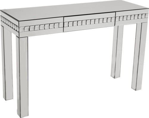 Crystal Border Mirrored Console Table