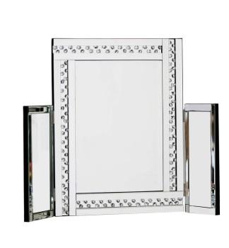 *Special Offer Glitz Floating Crystals Silver Tri fold Mirror 78cm x 54cm