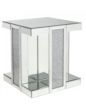 Crush Sparkle Crystal Mirrored Lamp / End Table