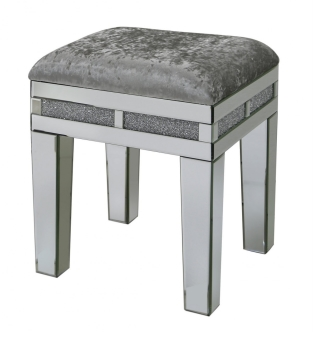 *Diamond Crush Sparkle Mirrored Milano Stool