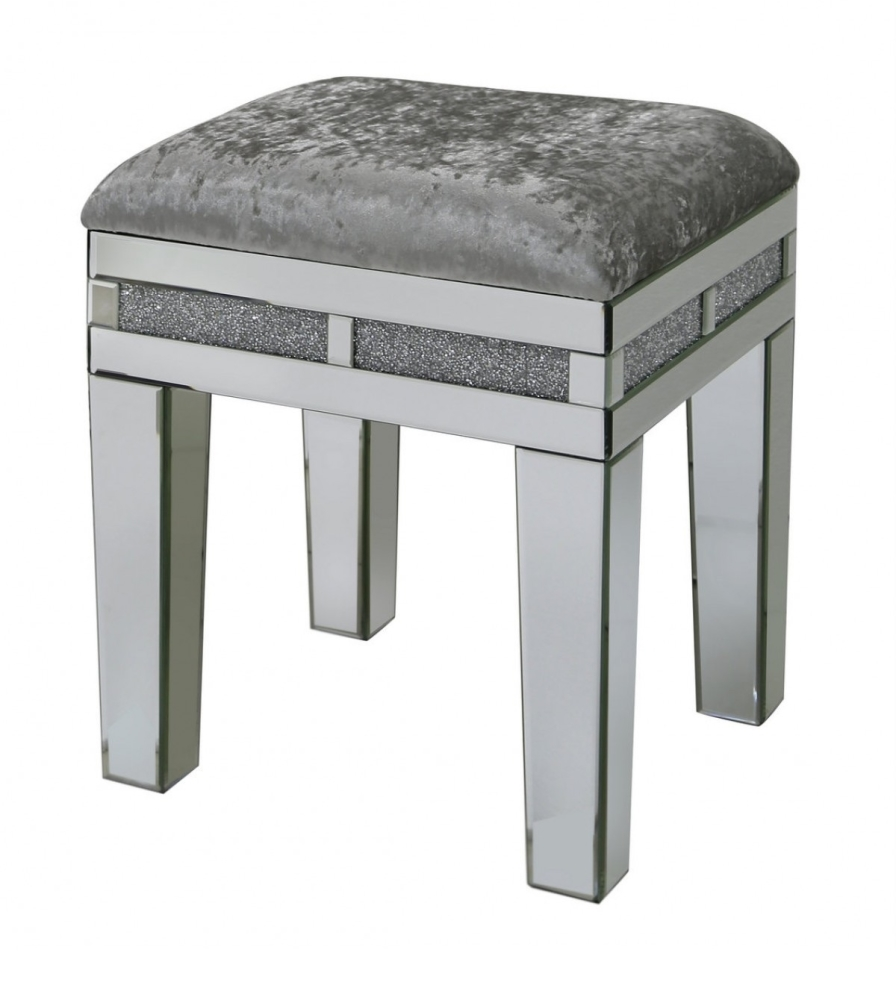 Crush Sparkle Mirrored Stool