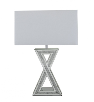 "^Crush Sparkle Mirrored ""x"" Lamp with shade"