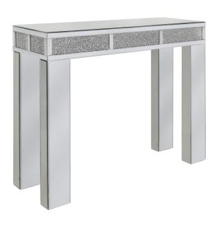 *Diamond Crush Sparkle Mirrored Milano Console Table