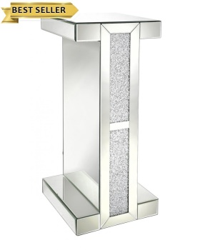 *Diamond Crush Sparkle Crystal Mirrored Milano Tall Telephone Table
