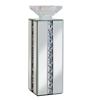 Floating Crystals Mirrored Tea Light Holder 11cm x 11cm x 34cm