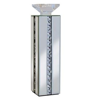 Floating Crystals Mirrored Tea Light Holder 11cm x 11cm x 42cm