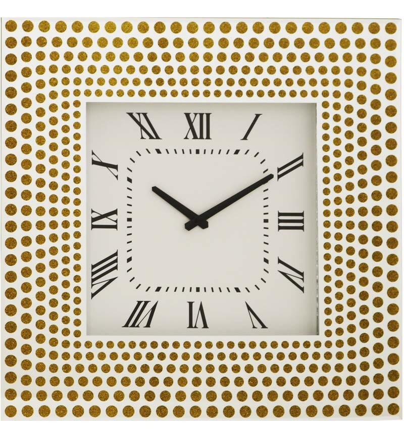 Silver & Gold Mirrored Clock 50cm x 50cm