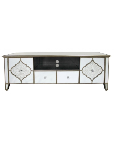 Extra Large Marrakech Gold Amp Mirrored Tv Entertainment Unit