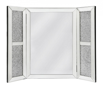 *Special Offer Crush Crystal Sparkle Silver Tri fold Mirror 67cm x 53cm