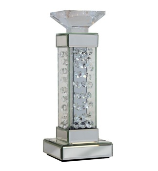 Floating Crystals mirroed Candle Sticks 37cm x 12cm