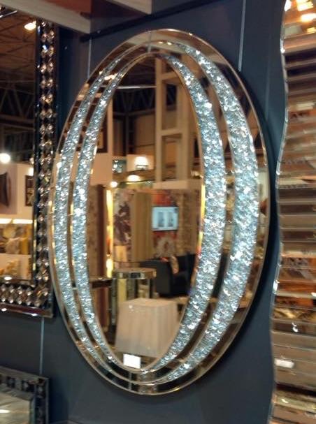Black Framed Oval Mirror