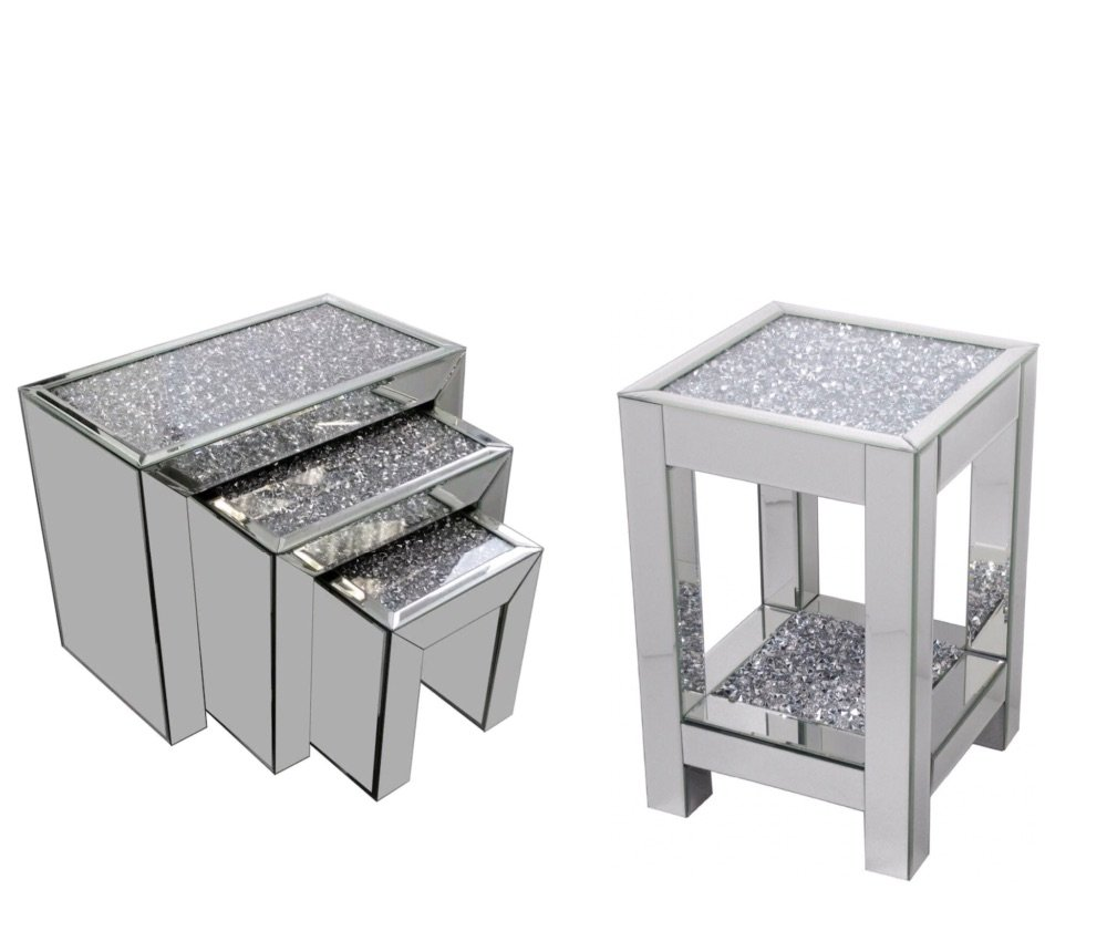 #Diamond Crush Crystal Sparkle Mirrors & Furniture