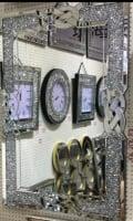 Diamond Crush Crystal Anabelle Wall Mirror 120cm x 80cm
