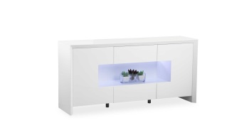 Soho White Led Sideboard
