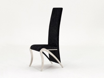 Tall Black crush Dining Chair