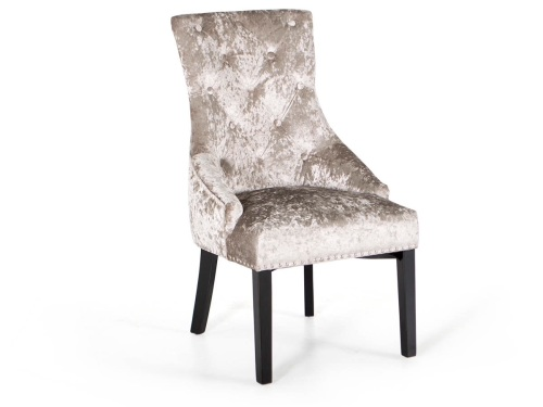 Super Knocker Back Crush Velvet Dining Chair In Lustre Minx Champagne Gamerscity Chair Design For Home Gamerscityorg