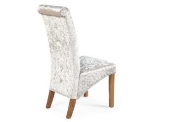 Crush velvet Dining Chair in Silver