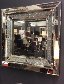 Diamond Crush Sparkle Wall Mirror 60cm x 60cm