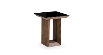 Soho Lamp Table in Gloss Walnut