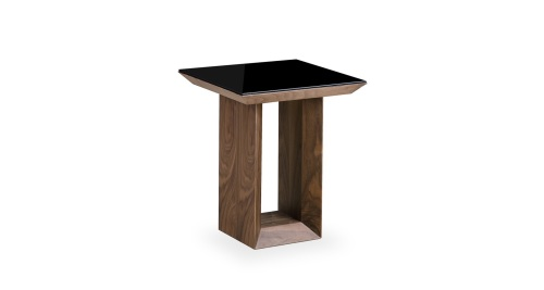 Soho lamp table in gloss walnut aloadofball Image collections