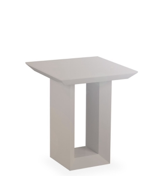 Soho Lamp Table in Gloss Grey