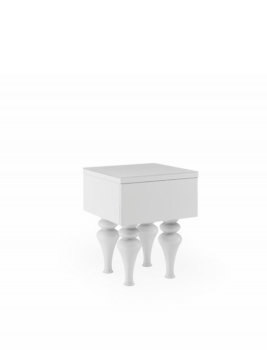 Laurent Lamp Table in Gloss White