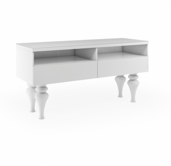 Laurent High Gloss Tv Entertainment unit in Gloss White Medium