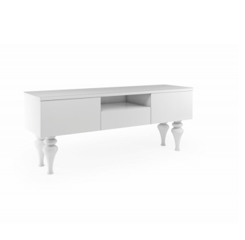 Laurent High Gloss Tv Entertainment unit in Gloss White Large