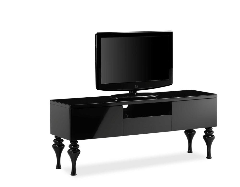 Laurent High Gloss Tv Entertainment unit in Gloss Black Large