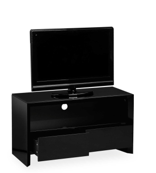 Soho High Gloss Tv Entertainment unit in Gloss Black Small