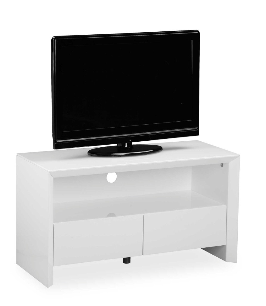 Soho High Gloss Tv Entertainment unit in Gloss White Small