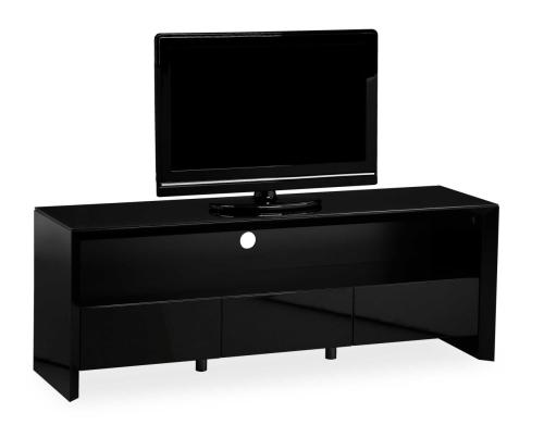 Soho High Gloss Tv Entertainment unit in Gloss Black large