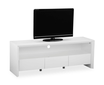 Soho High Gloss Tv Entertainment unit in Gloss White large