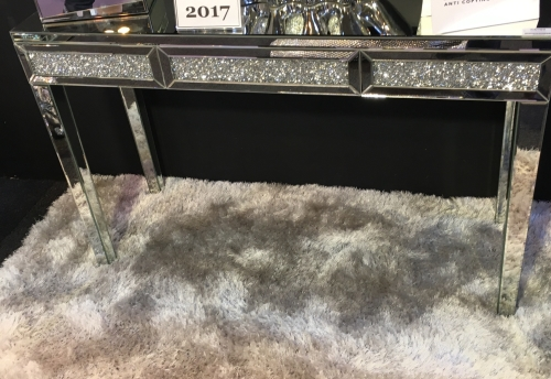 * New Crush Crystal Sparkle Console Table with draws
