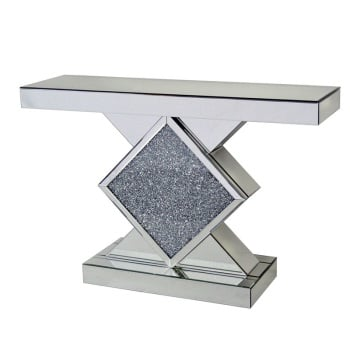 *Diamond Crush Sparkle Crystal Console Table 120cm in stock for a fast delivery
