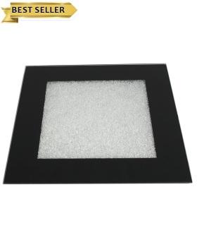 Crush Sparkle Mirrored Plate Holder in Black 30cm x 30cm