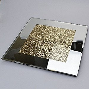 Crush Sparkle Mirrored Coasters set of 4 Gold centre