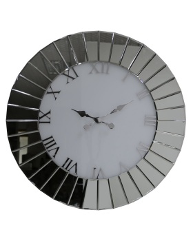 Round Mirrored wall Clock 60cm dia in stock for a fast delivery