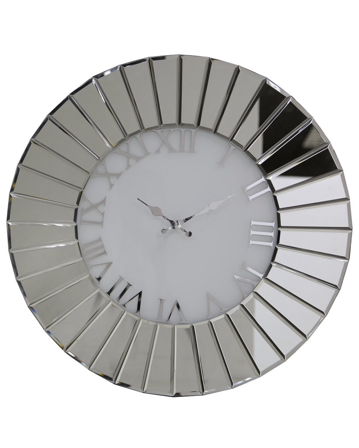 Round Mirrored Wall Clock 90cm Dia