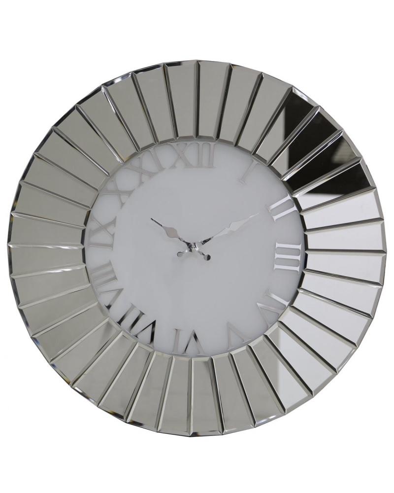 Round Mirrored wall Clock 90cm dia