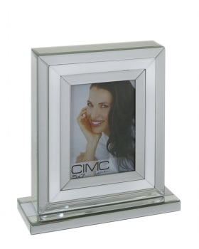 "White & Silver Mirror Photo frame 5"" x 7"""